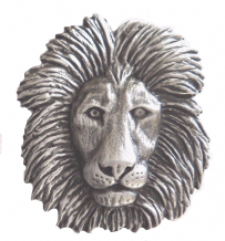 Lion's Head Pewter Brooch - BR1320